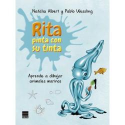Rita pinta con su tinta